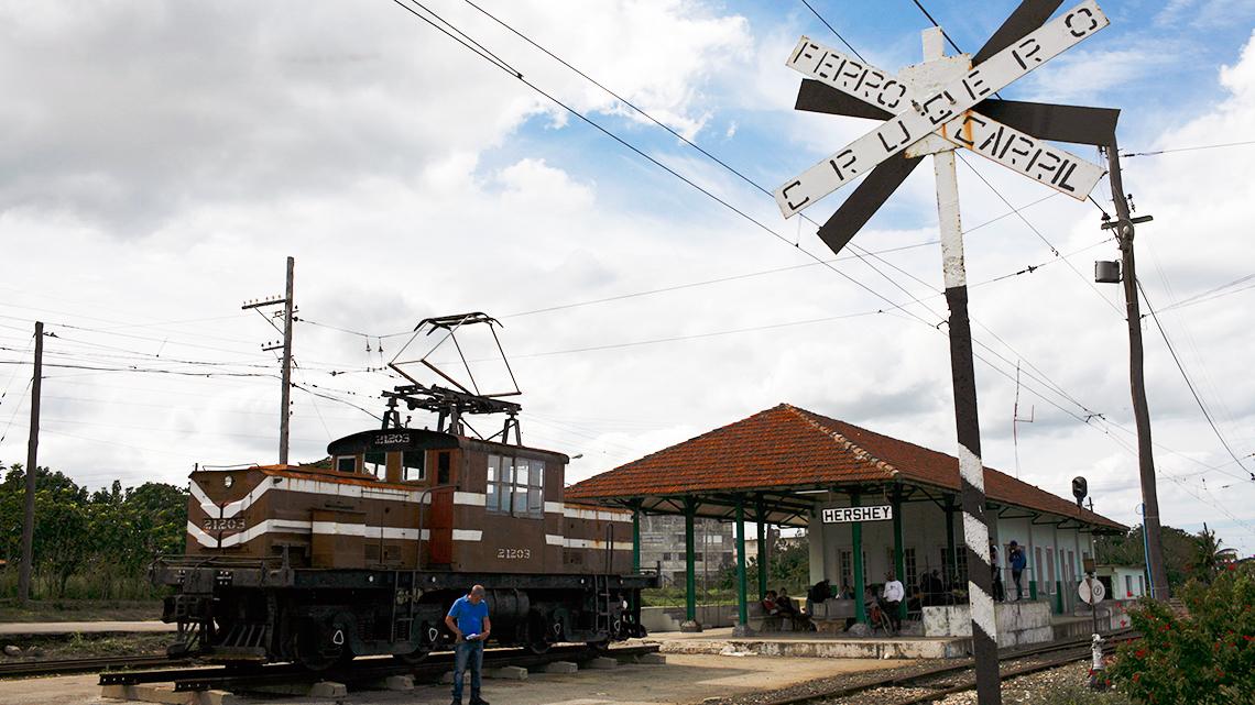 Train station in Hershey, Matanzas, Cuba, Joanna Lumley's documentary film