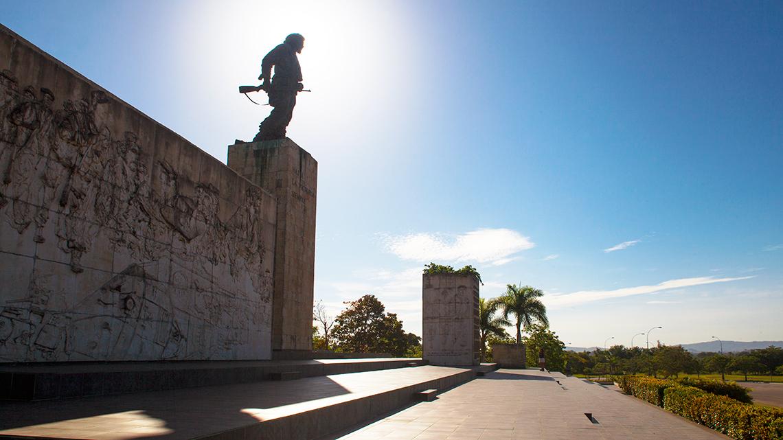 View of Che Guevara's mausoleum in Santa Clara