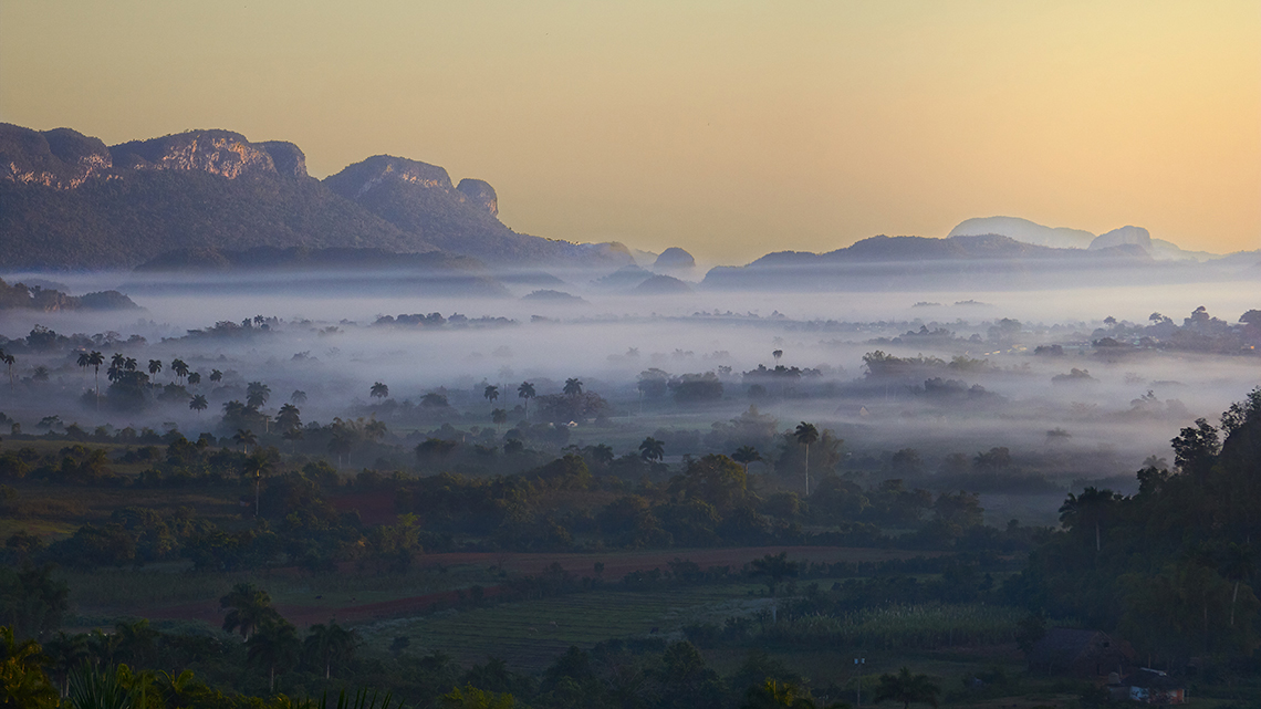 Beautiful morning in Vinales Valley wild cuba