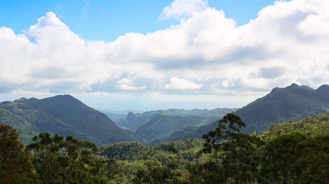 Mountains of Escambray between Cienfuegos and Trinidad