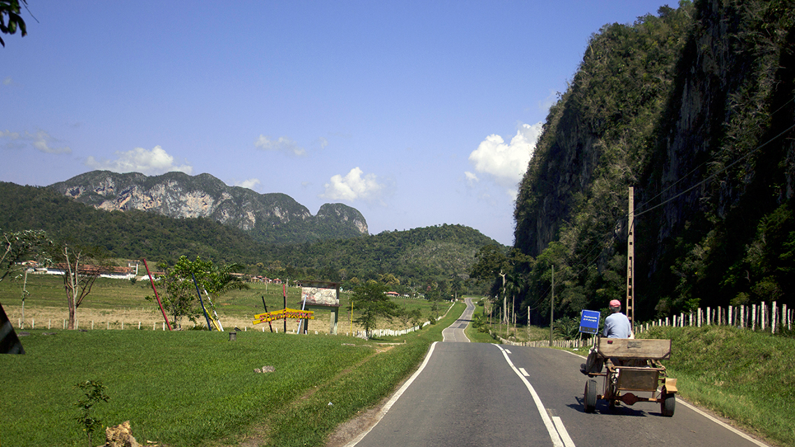 Horse drawn carriage in the roads around Vinales, Cuba