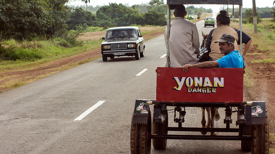 Horse drawn carriage in Cuba's roads