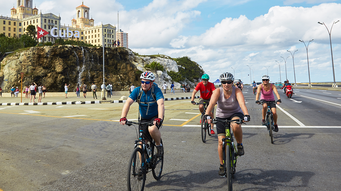 Cycling in Havana, Cuba's capital and beating heart