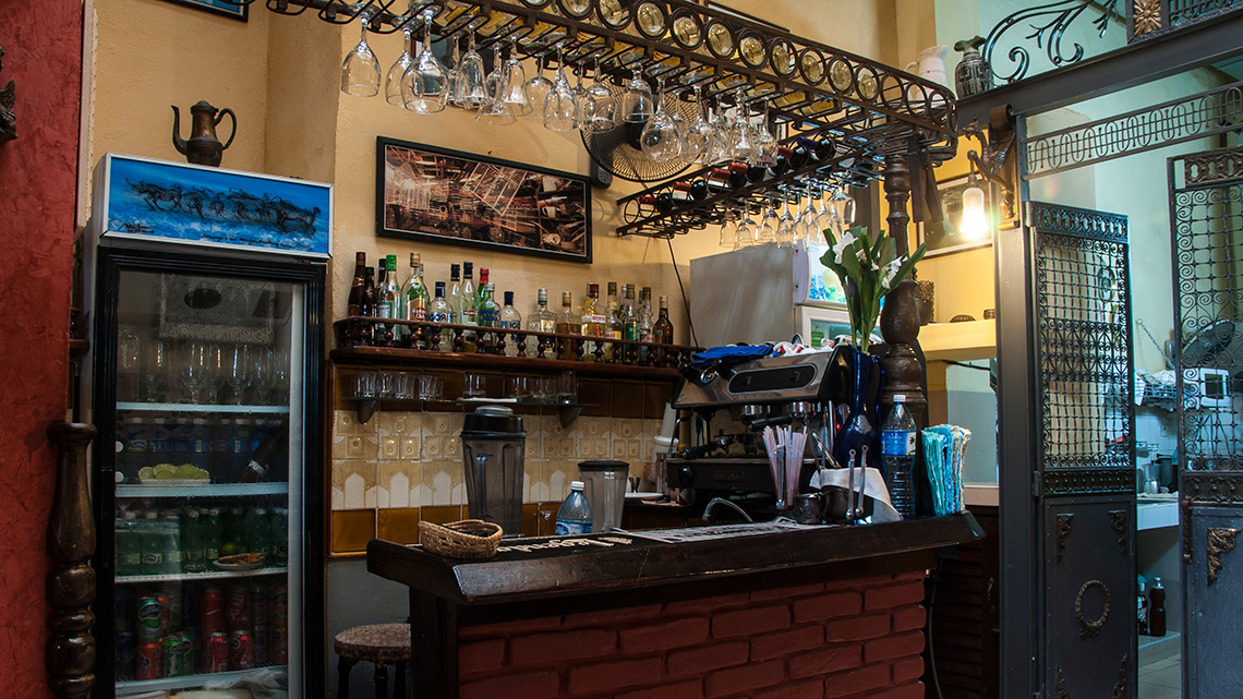 At Doña Eutimia the bar is fully stocked