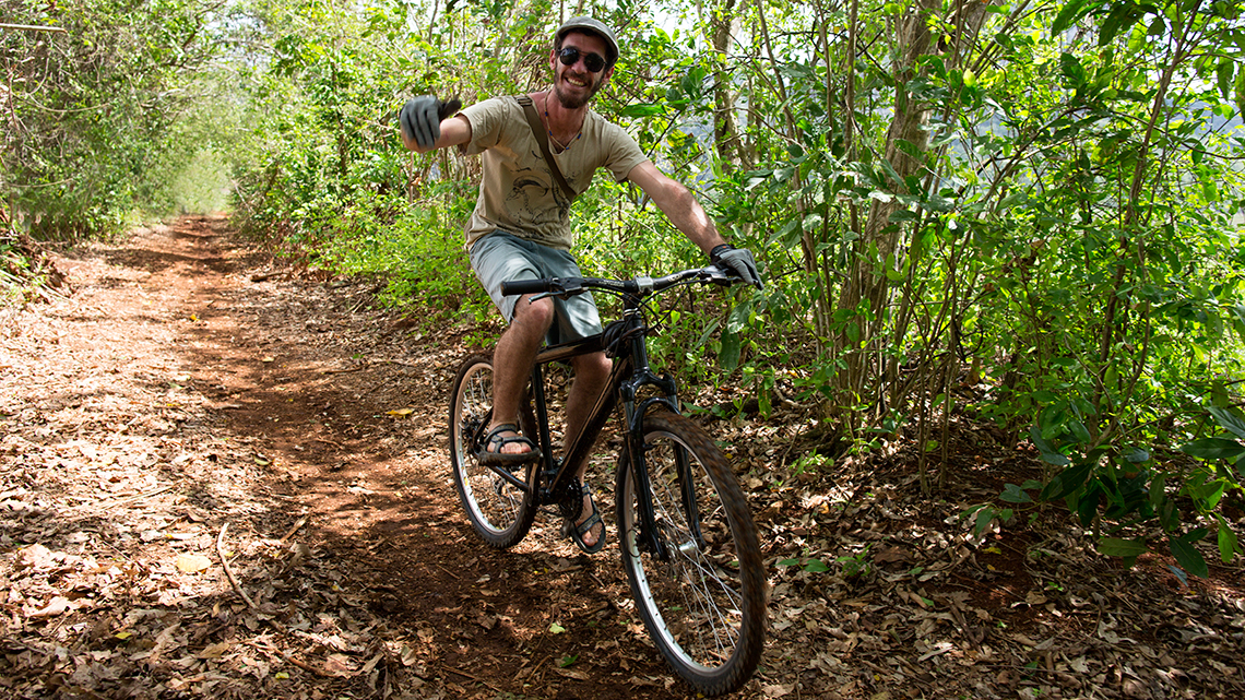 Off-road biking is also popular with young Cubans