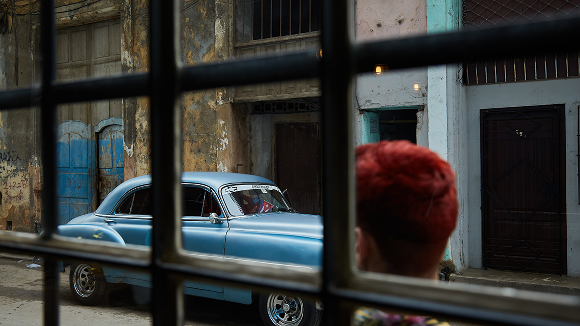 You can watch live goes by from the windows of Jama Paladar in Old Havana