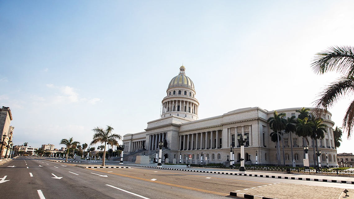 Havana's Capitol Building seen from Parque Central