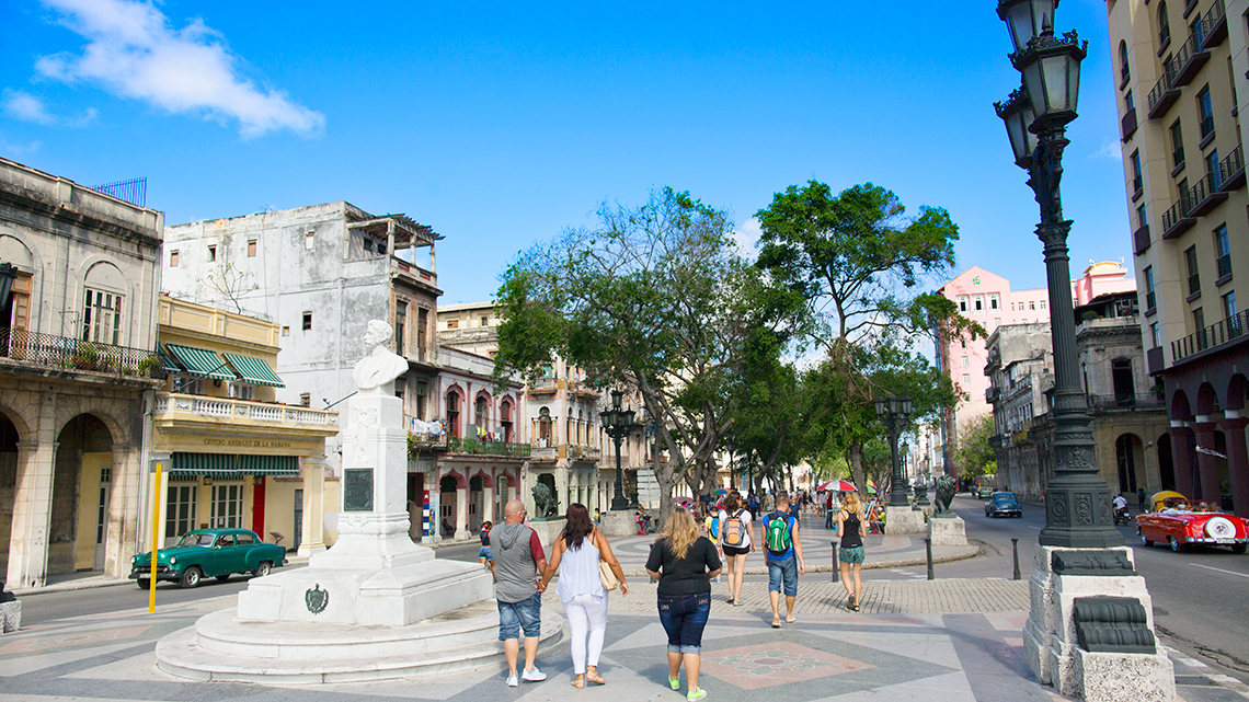 Paseo del Prado, just in the corner of Havana's Parque Central