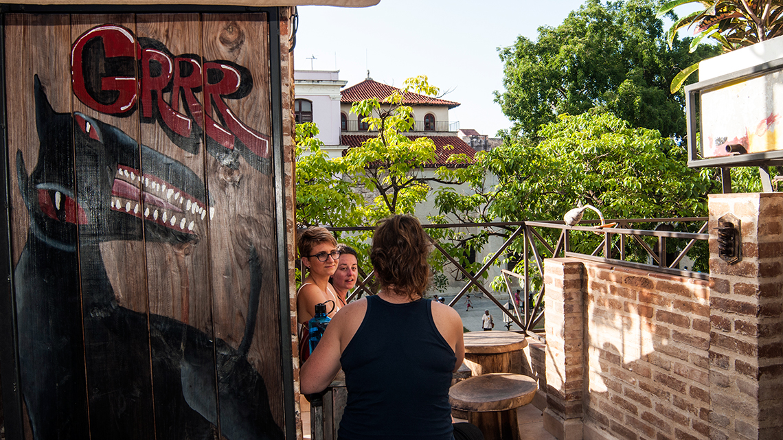 The terrace of El Chachullero offers great views of Plaza de Cristo, right in the heart of Old Havana, Cuba