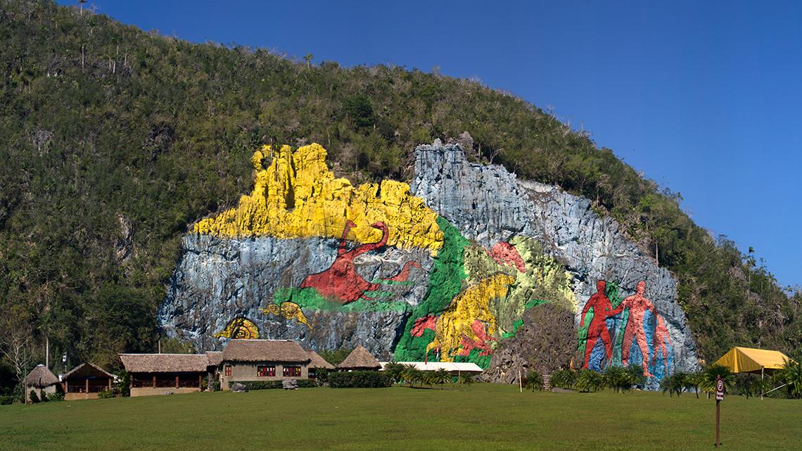 Mural de la Prehistoria, one of Vinales main attractions