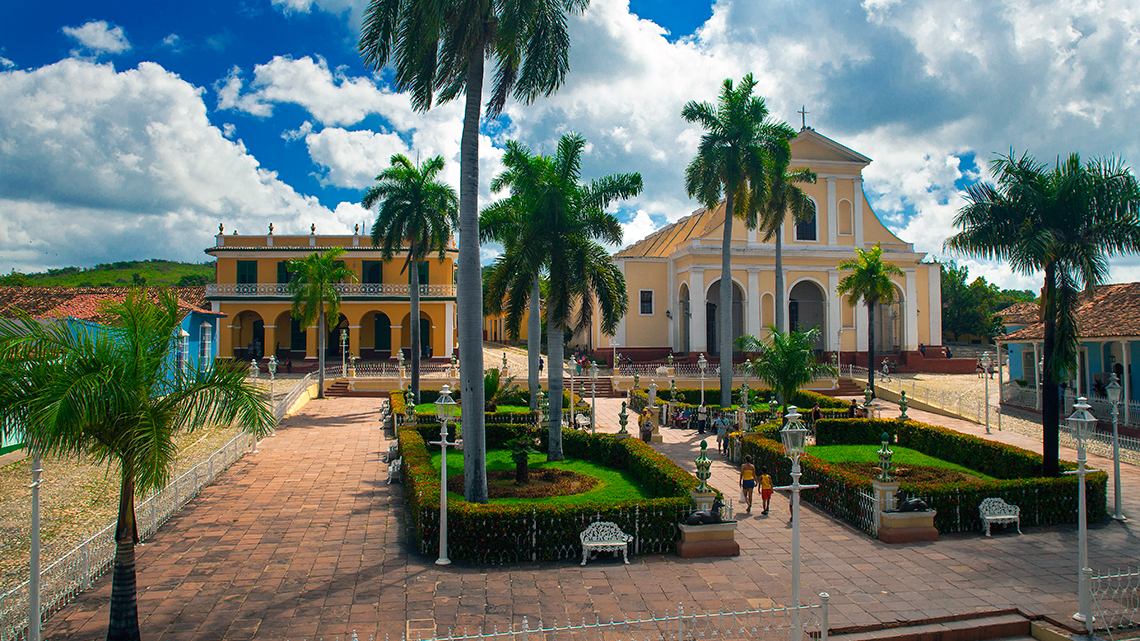 Lovely view or Trinidad's Plaza Mayor