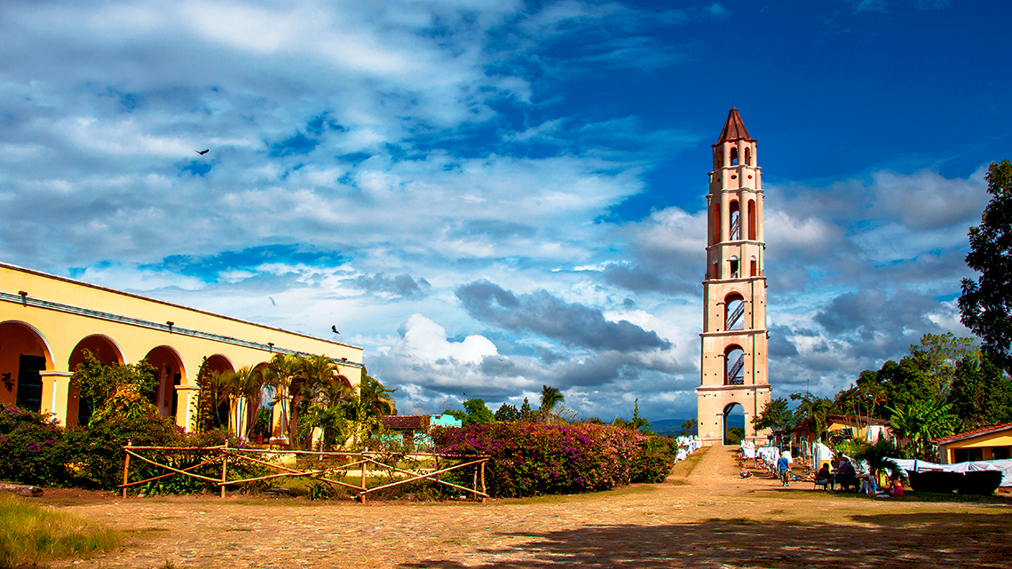 Torre Iznaga in one of the Sugar Mills of the Valley of the Sugar Mills very near Trinidad