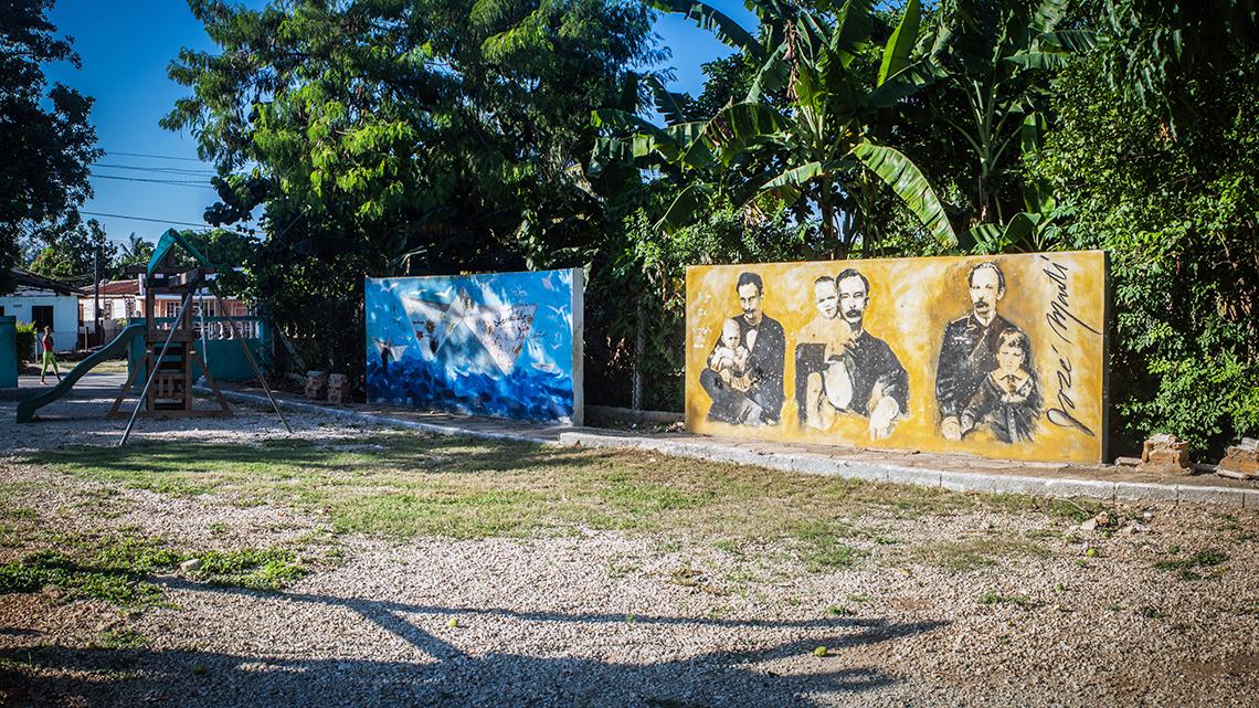 Murals painted by Kcho in one the parks built by Kcho Estudio Romerillo