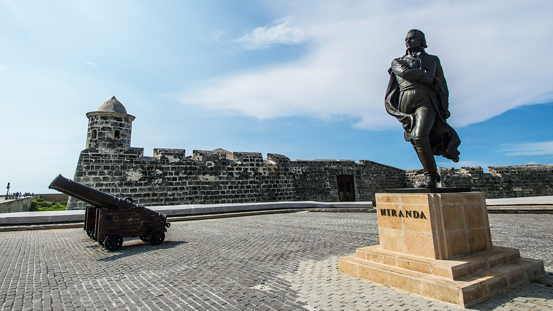 La Punta Fortress, also statue dedicated to Sebastian Francisco de Miranda