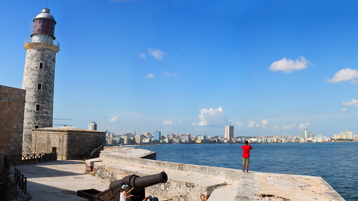 Lighthouse of Morro Castle and great views of Havana