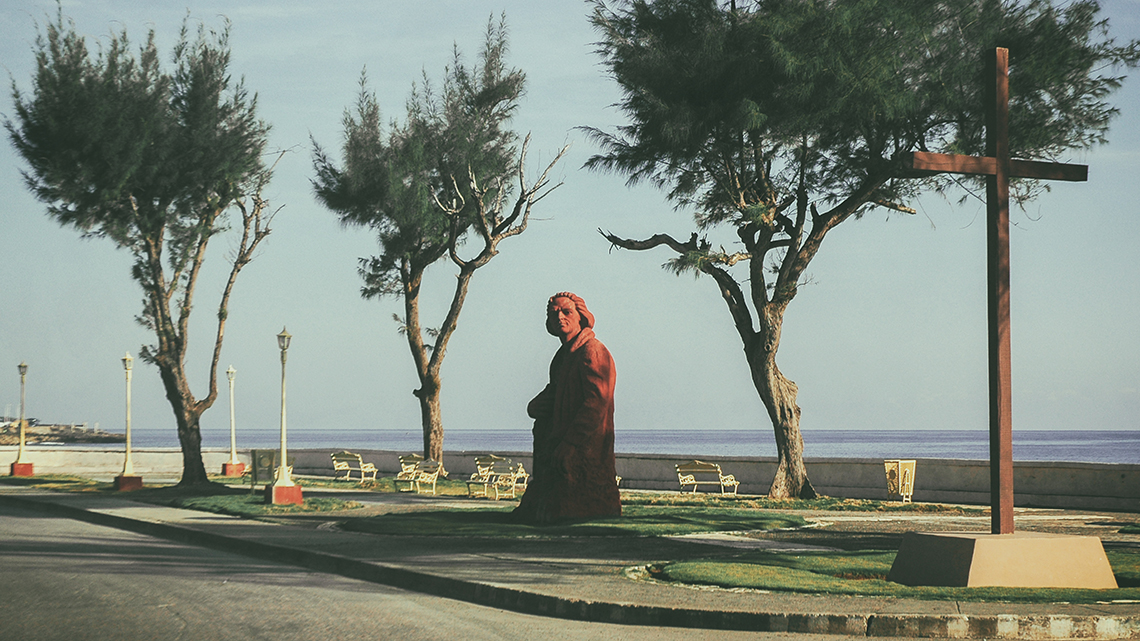 Statue of Christopher Columbus in Baracoa