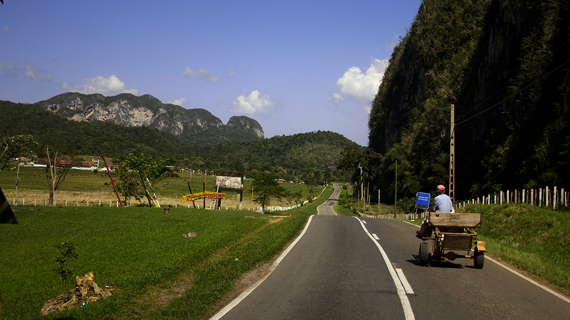 Horse drawn carriage are a common sight in the roads of Cuba