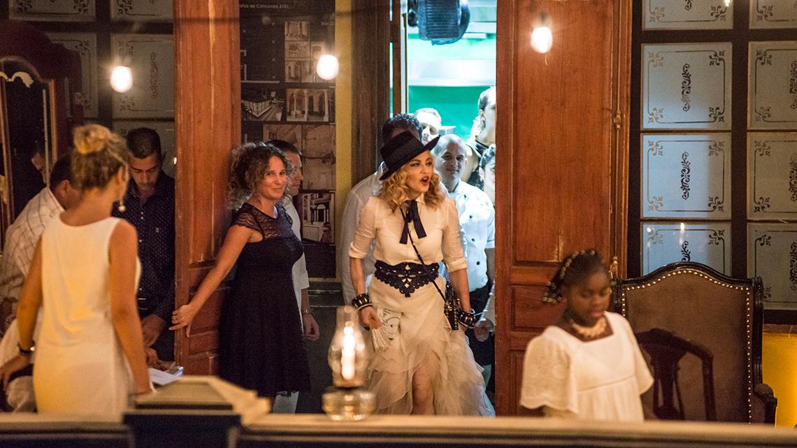 Madonna celebrated her 58th birthday at La Guarida