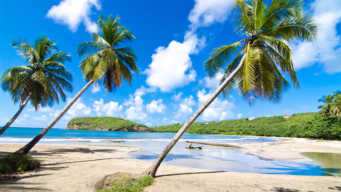 Wonderful beach in the Caribbean island of Grenada