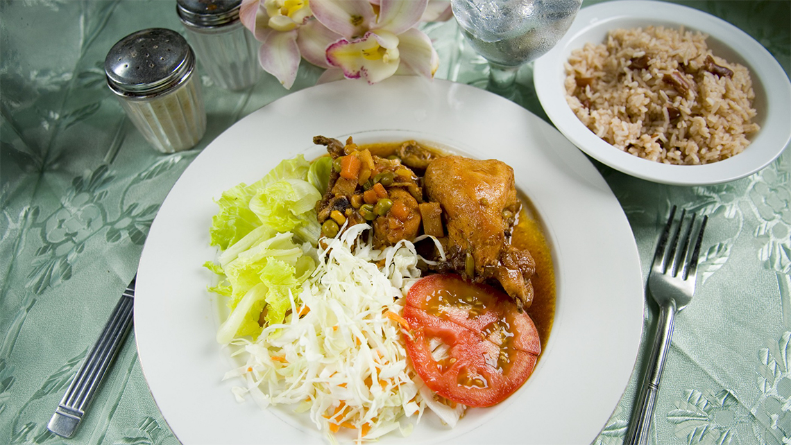 Jerk Chicken, a staple recipe of Jamaican food