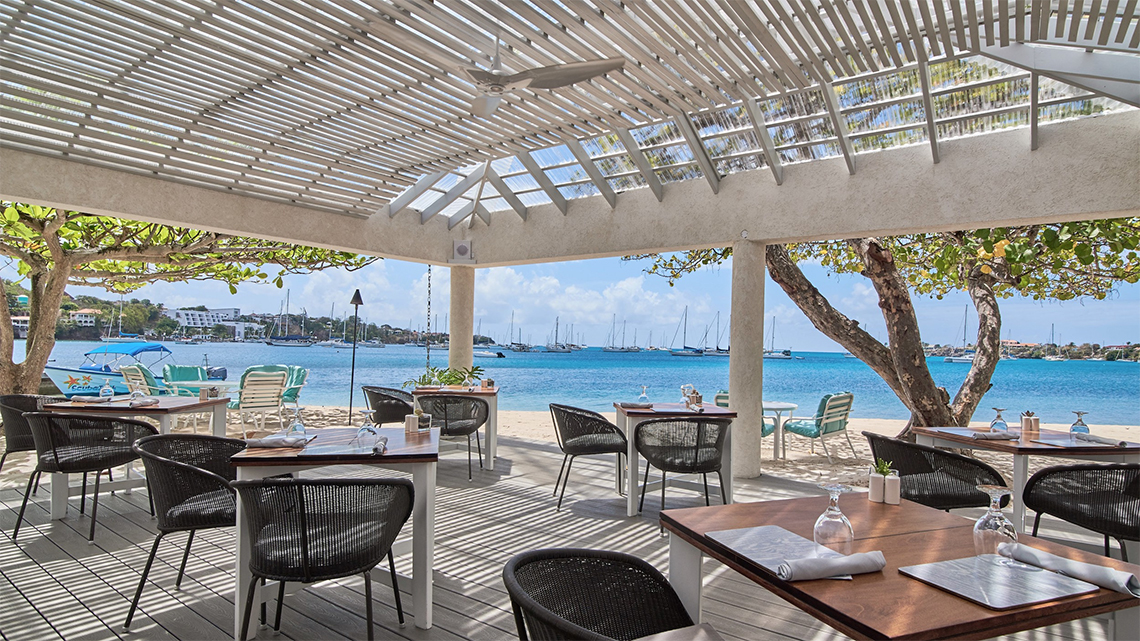 Dining with a view at Calabash Luxury Boutique Hotel and Spa
