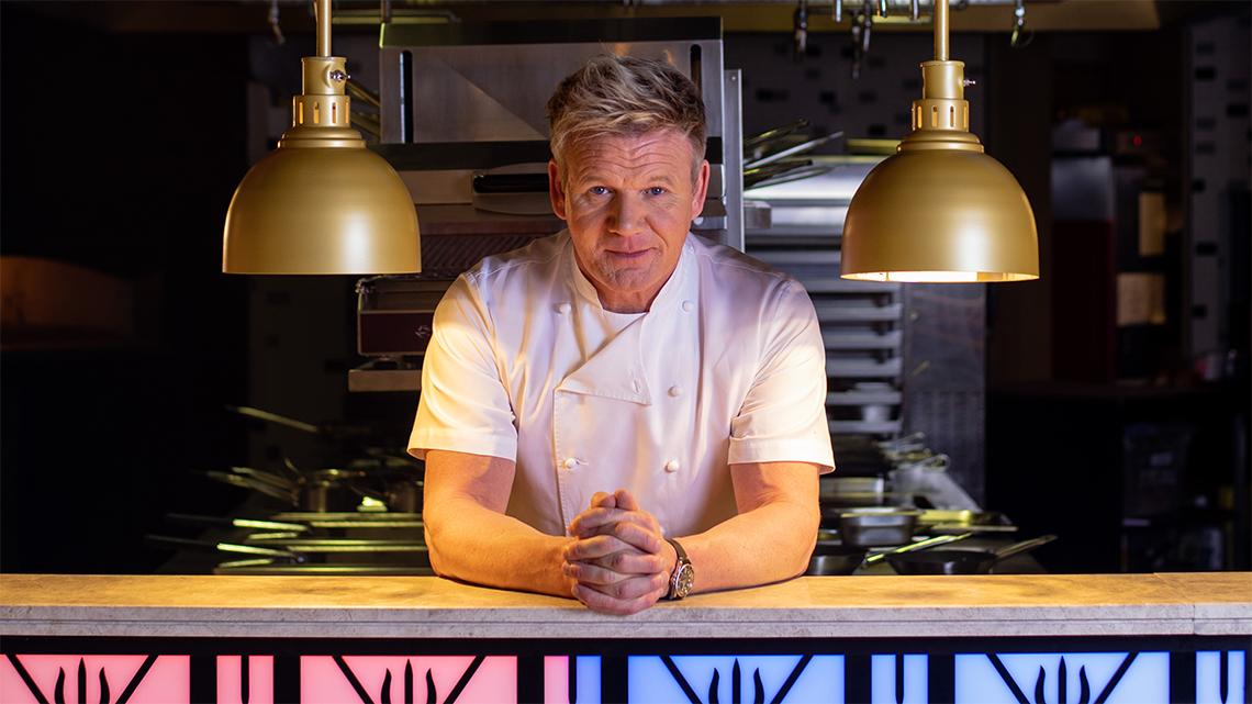 Gordon Ramsay at Hell's Kitchen restaurant at Caesars Palace Bluewaters Dubai