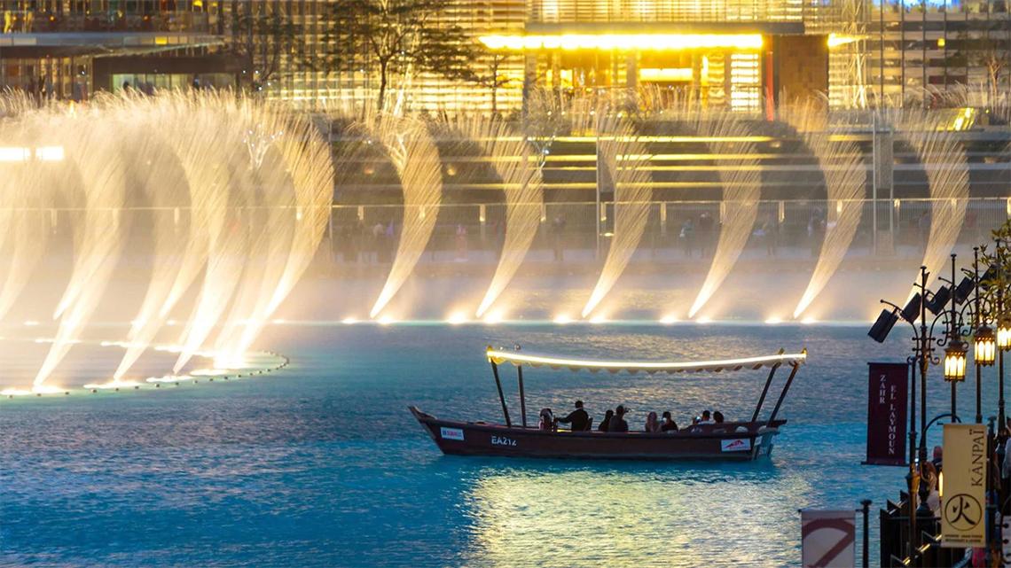 The Dubai Fountains in Downtown Dubai